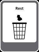 Rest sticker afval scheiden