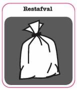 Restafval sticker afval scheiden