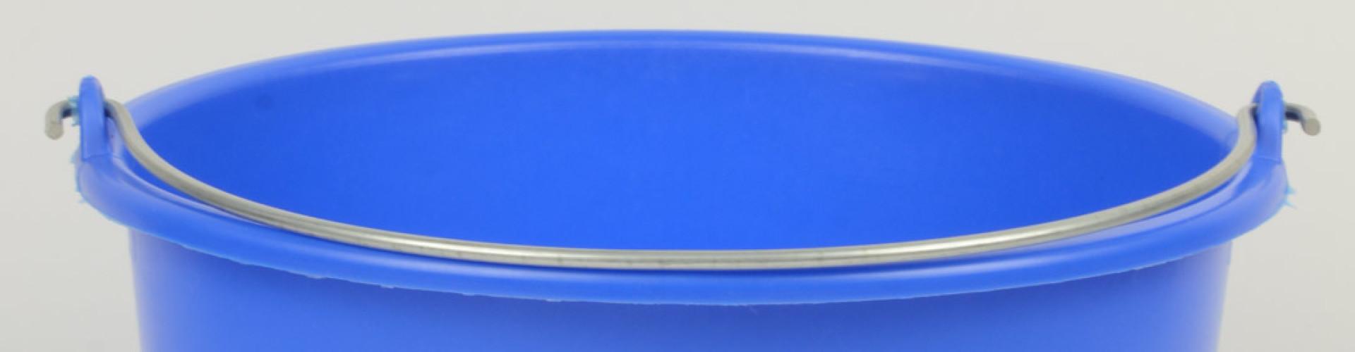 Blauwe emmer