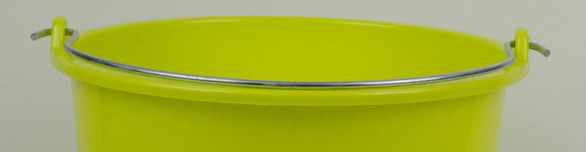 Lime groene emmer