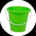 Lime groene speelgoed emmer