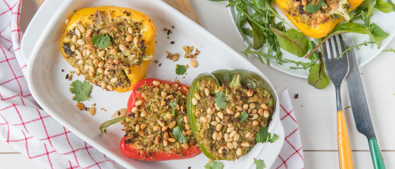 Recept: Gevulde paprika's met broccoli en shiitake