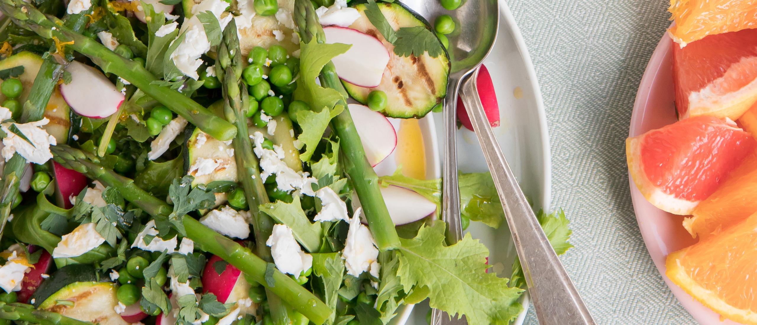 Recept: Lentegroenten met frisse citrusdressing