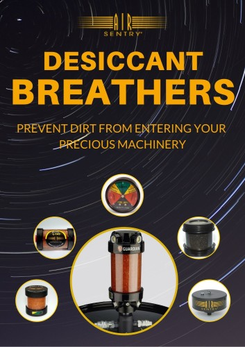 Air Sentry desiccant breathers prevent dirt from entering your precious machinery