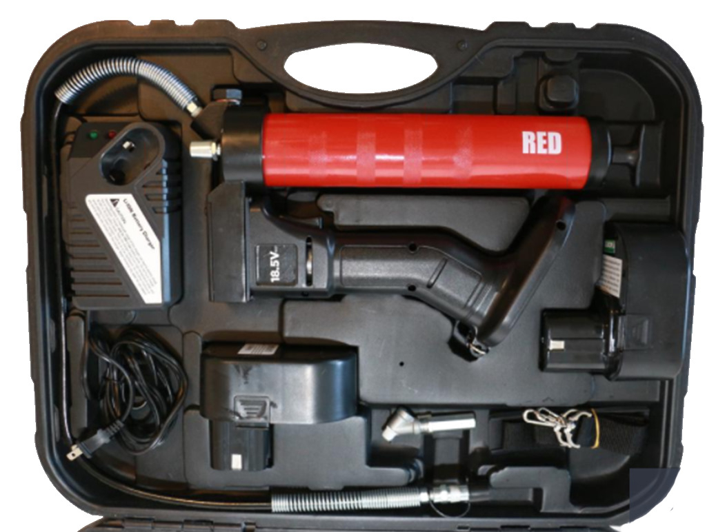Battery-operated grease gun OilSafe