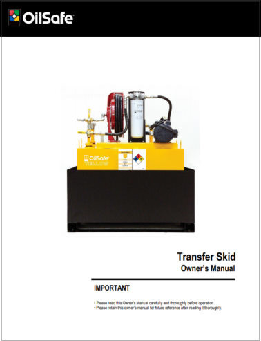 Bulk fluid transfer Skids OilSafe