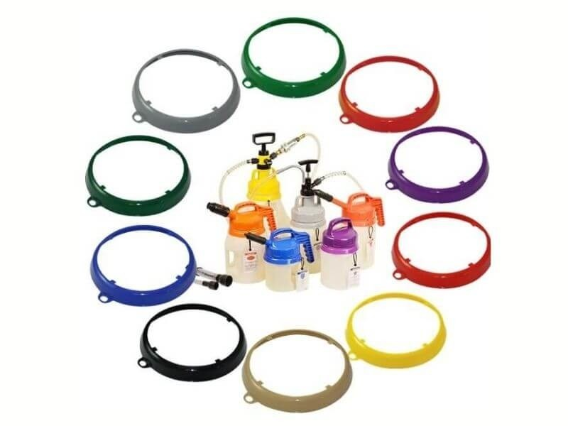 Colour-coded drum rings
