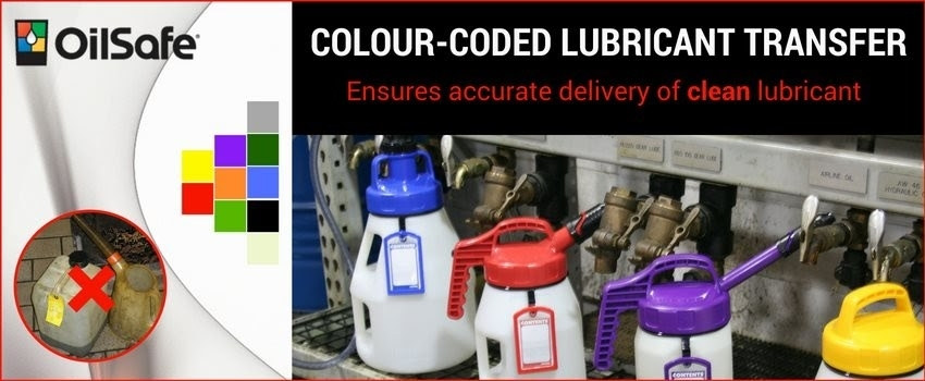 Colour-coded lubricant transfer