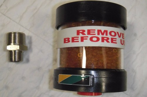 Remove before Use - desiccant breather