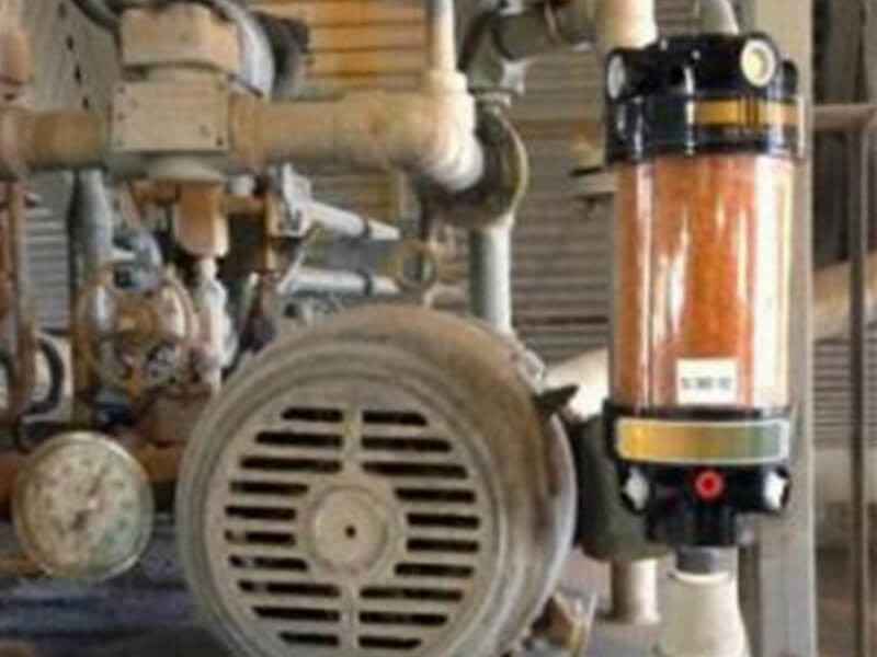 Power plant cooling system lubrication reservoir