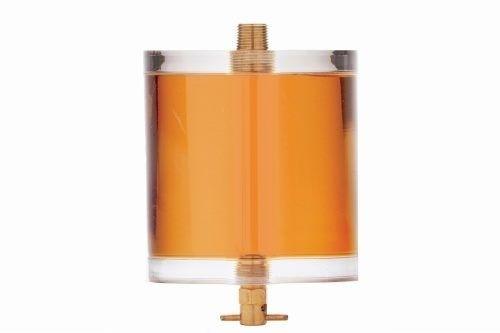 High volume oil sight glass