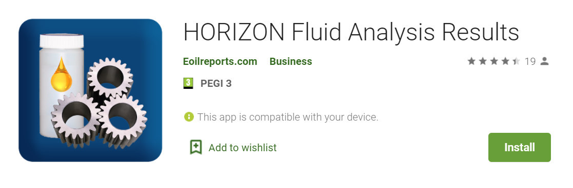 Horizon fluid analysis results app