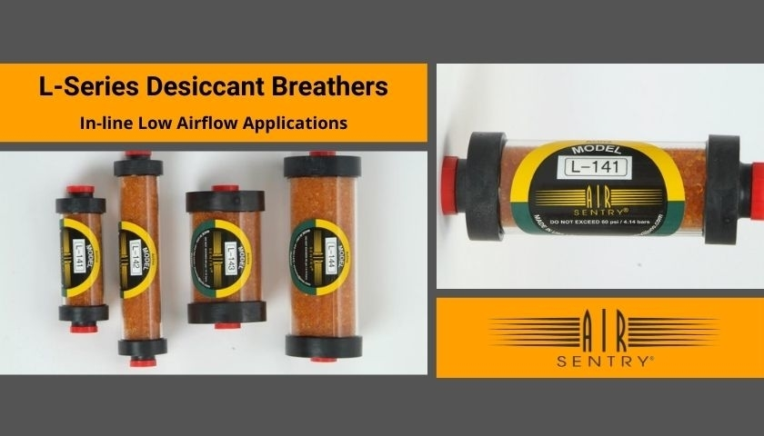 L-series desiccant breathers