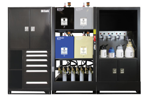 Lubrication Work Center + cabinet OilSafe