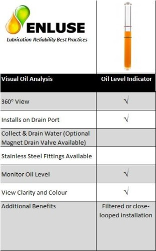 Oil level indicator features