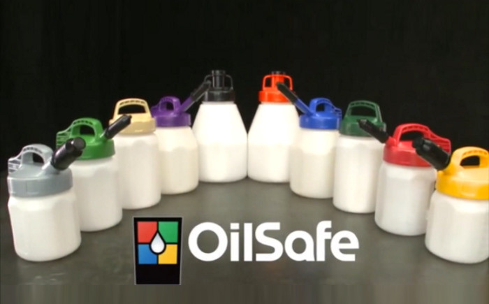 OilSafe containers and lids