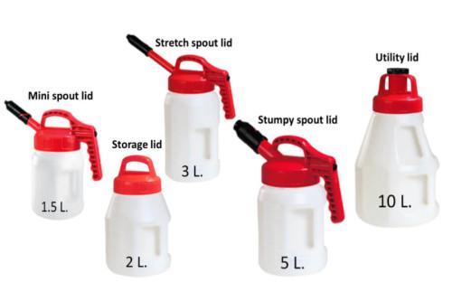 OilSafe drums and lids assortment