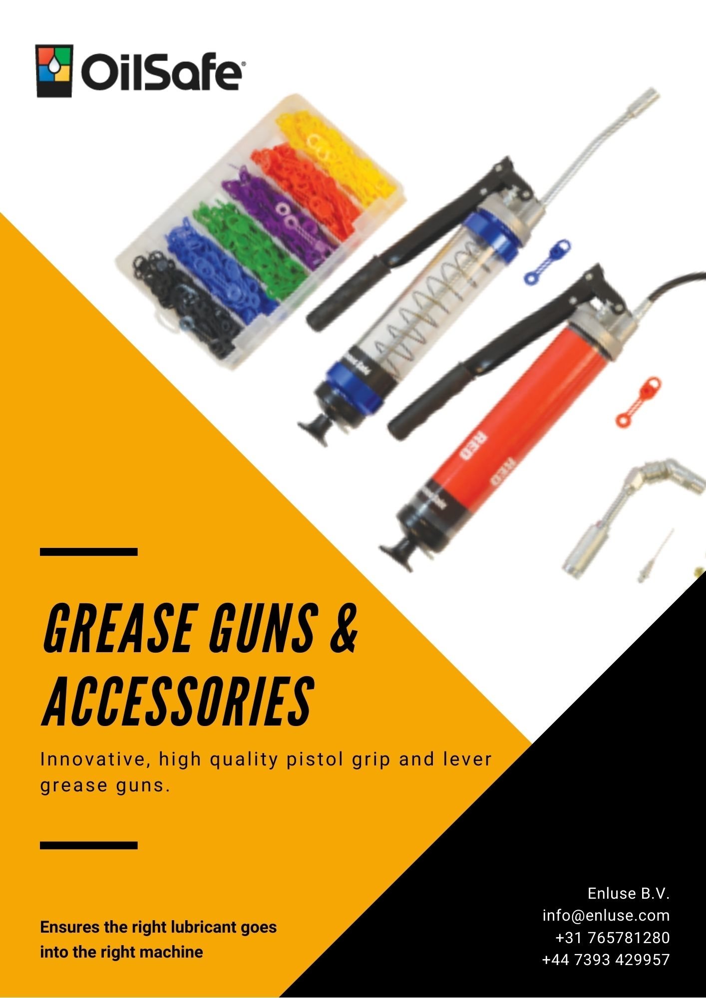 OilSafe Grease Guns and Accessories
