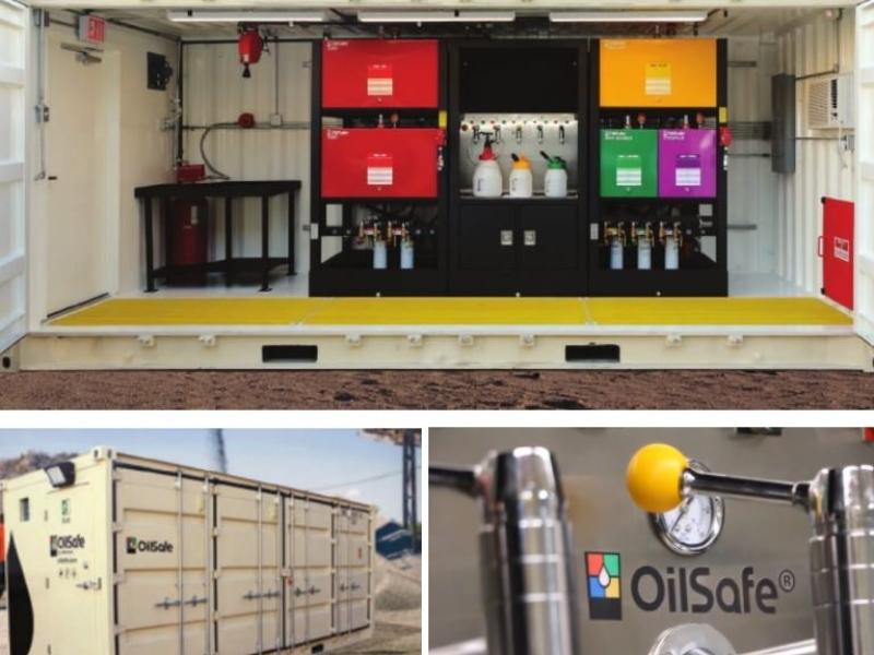 OilSafe satellite lube room