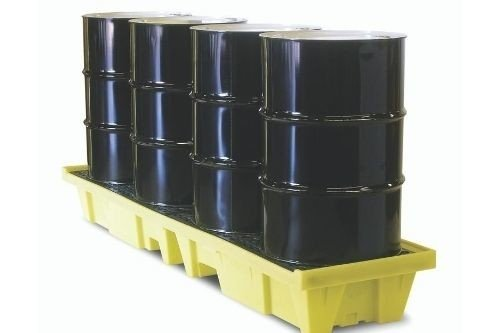 Spill Pallets 4 drums in line - low profile