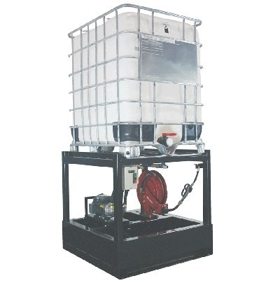 OilSafe Tote dispensing rack