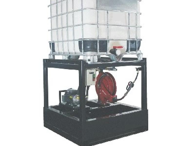 OilSafe Tote dispensing rack