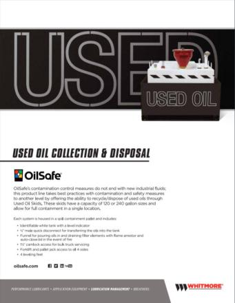 Used oil skids - OilSafe