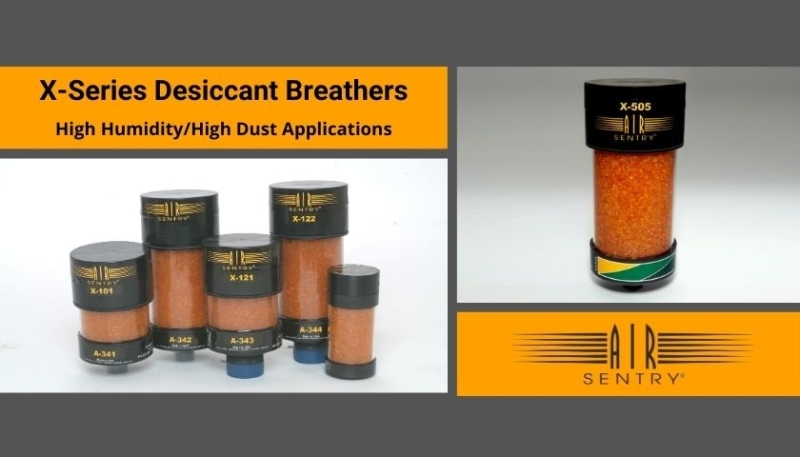 Desiccant breathers X-series High humidity /dust applications