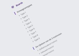 ennea community overzichtelijke boards
