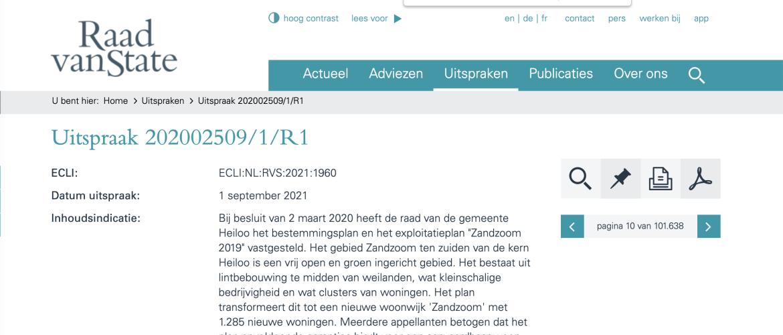 Uitspraak Raad van State Zandzoom 2019