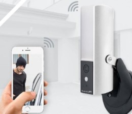 WiFi-camera-met-APP-en-sensor-lamp-GuardCam-DECO-zwart