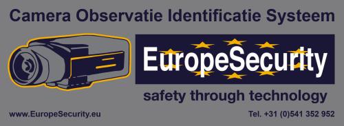 EuropeSecurity camerabewaking waarschuwingsstikker