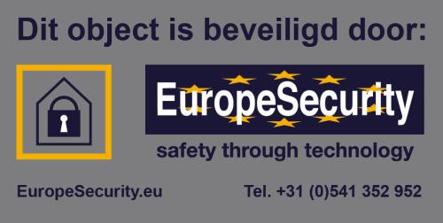 EuropeSecurity dubbelzijdige Stikker alarmsysteem
