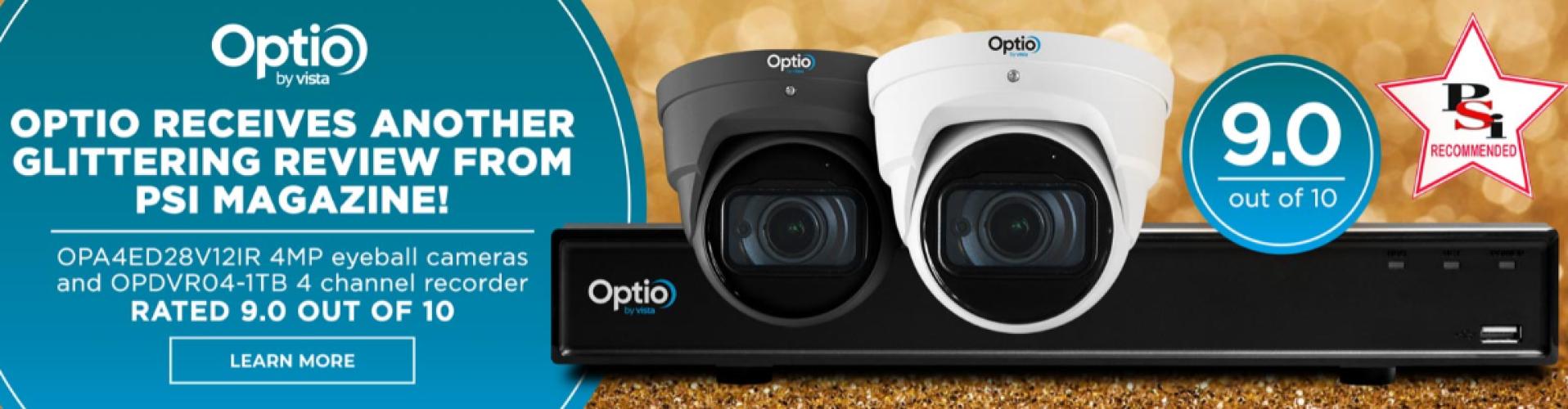 Vista Optio camerabeveiliging voor iedereen