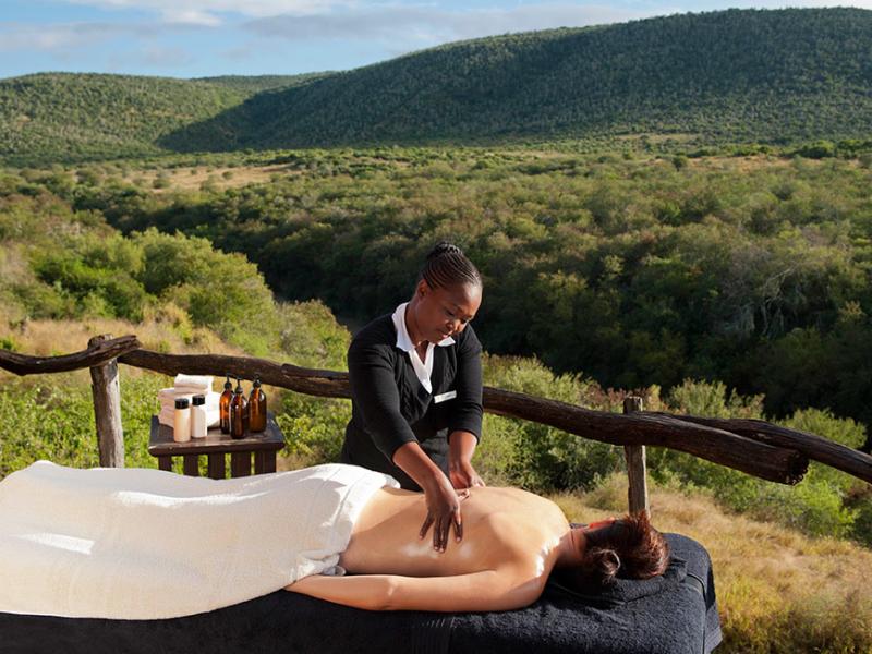 Kwandwe Game Reserve - Luxe Safari Zuid-Afrika - Massage