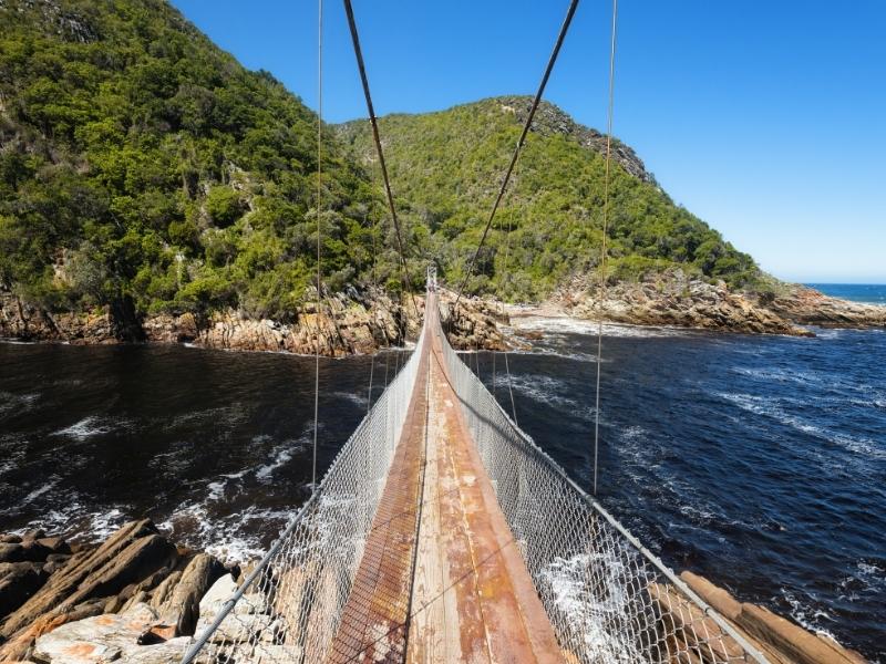 Tsitsikamma National Park - Luxe Safari Zuid-Afrika - Loopbrug