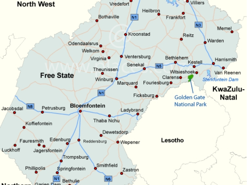 kaart-free-state