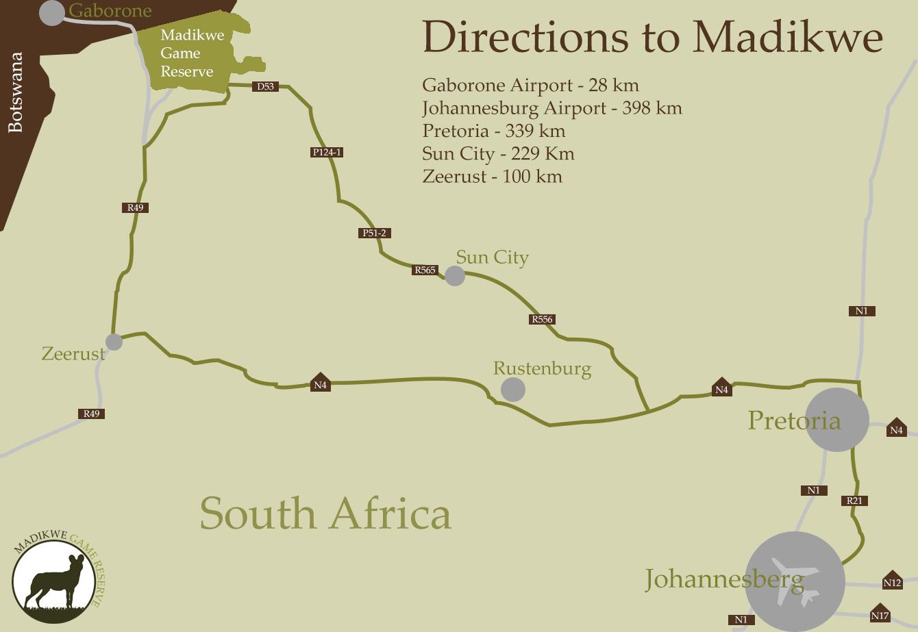 kaart-madikwe-game-reserve