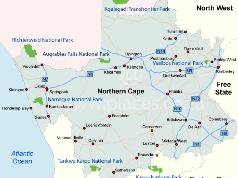 kaart-northern-cape