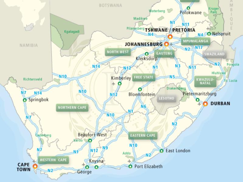 kaart-snelwegen-zuid-afrika