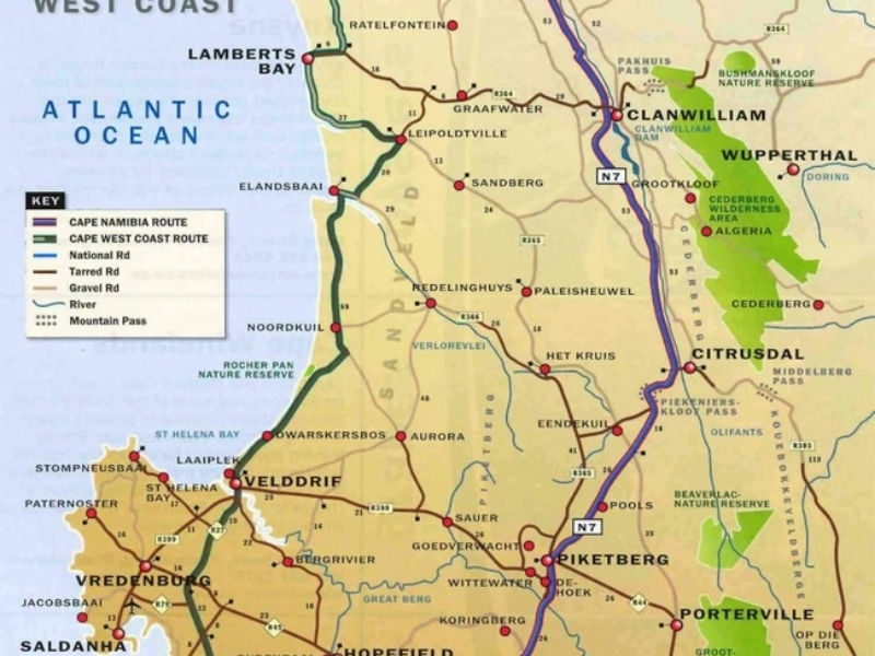 kaart-west-coast