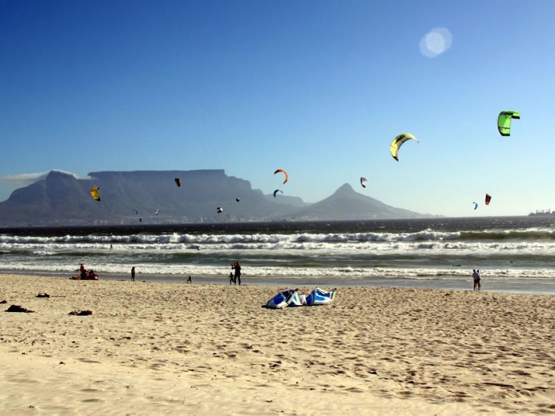 kite surfen in zuid afrika