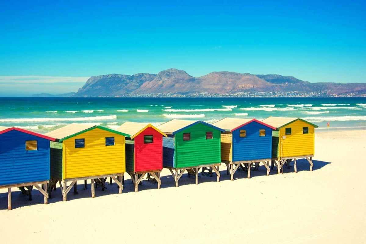 Muizenberg Beach strand bij kaapstad 2