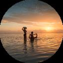 seychellen zonsondergang