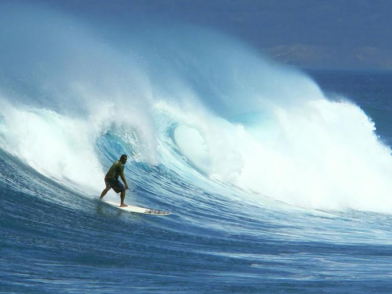 surfen en kite surfen in zuid afrika kwazulu natal golven