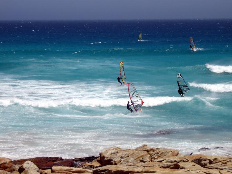 surfen en kite surfen in zuid afrika cape of good