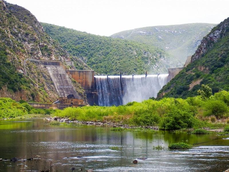 Baviaanskloof Oost Kaap Zuid-Afrika stuwdam