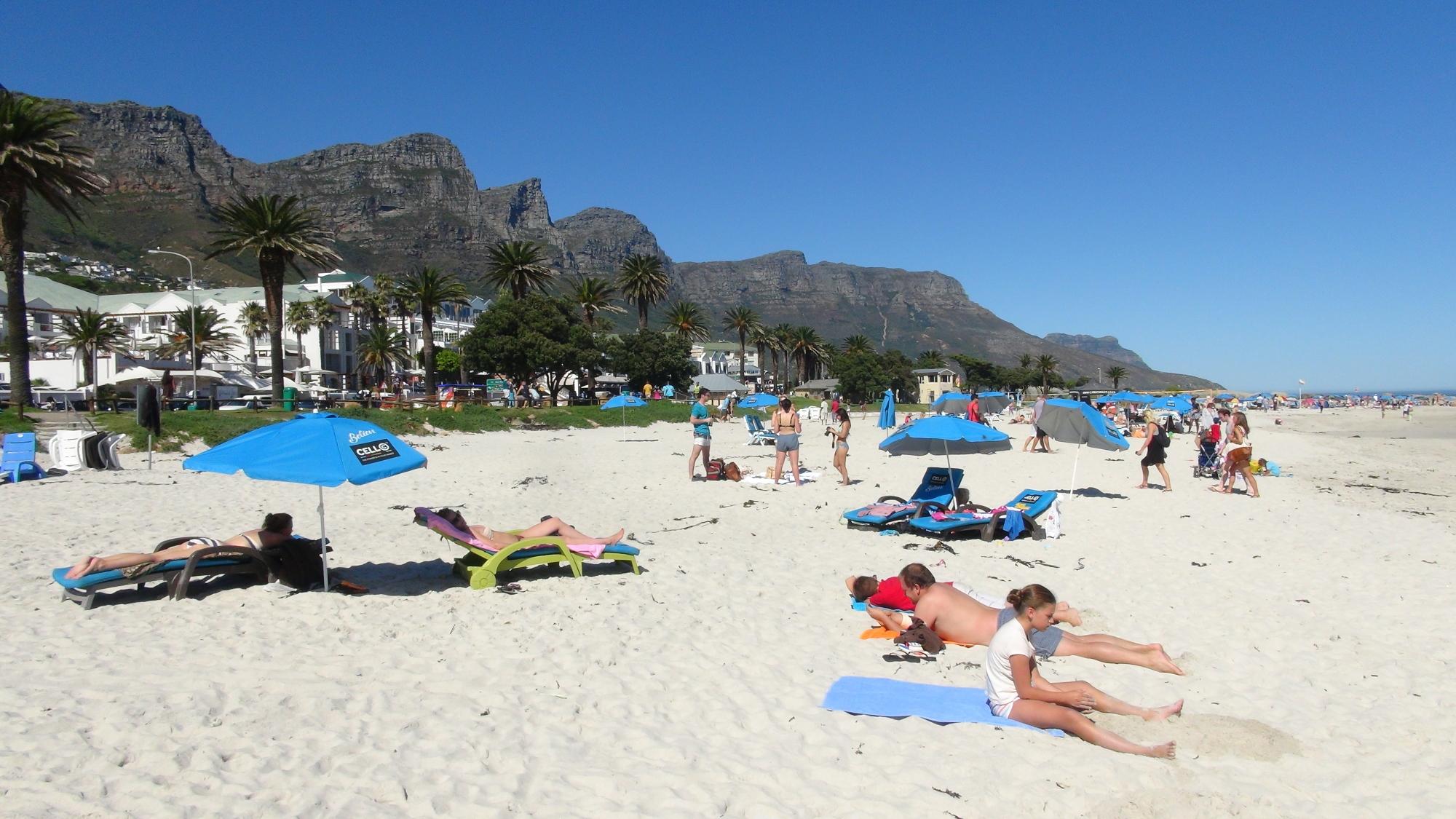 Camps Bay Beach - De stranden van Kaapstad Zuid-Afrika