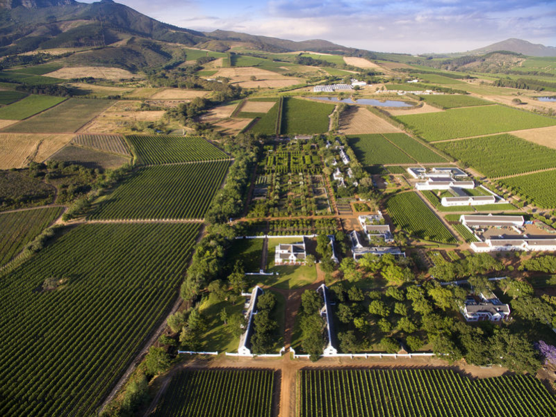 Cape WInelands Zuid-Afrika Aerial View