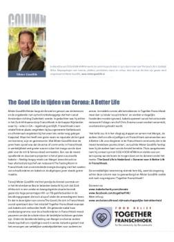 Mister Goodlife's Column over Isabelo ui OOG voor AFRIKA Juni 2020